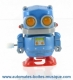 Automaton, mechanical walking robot made of resin with a rewind key - Item# for this mechanical robot : ROBOT-01