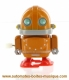 Automaton, mechanical walking robot made of resin with a rewind key - Item# for this mechanical robot : ROBOT-04