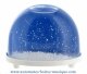 Traditional non-musical snow globe made of plastic without any 18 note musical mechanism - Item # for this non-musical snow globe made in Germany: 3299