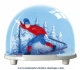 Traditional non-musical snow globe made of plastic without any 18 note musical mechanism - Item # for this non-musical snow globe made in Germany: 2980