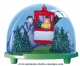 Traditional non-musical snow globe made of plastic without any 18 note musical mechanism - Item # for this non-musical snow globe made in Germany : 3610