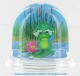 Traditional non-musical snow globe made of plastic without any 18 note musical mechanism - Item # for this non-musical snow globe made in Germany : 3902151