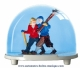 Traditional non-musical snow globe made of plastic without any 18 note musical mechanism - Item # for this non-musical snow globe made in Germany: 2630