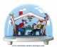 Traditional non-musical snow globe made of plastic without any 18 note musical mechanism - Item # for this non-musical snow globe made in Germany: 2627