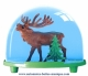 Traditional non-musical snow globe made of plastic without any 18 note musical mechanism - Item # for this non-musical snow globe made in Germany: 2701
