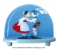 Traditional non-musical snow globe made of plastic without any 18 note musical mechanism - Item # for this non-musical snow globe made in Germany: 2600