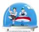 Traditional non-musical snow globe made of plastic without any 18 note musical mechanism - Item # for this non-musical snow globe made in germany : 2601