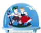 Traditional non-musical snow globe made of plastic without any 18 note musical mechanism - Item # for this non-musical snow globe made in Germany: 2602