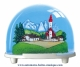 Traditional non-musical snow globe made of plastic without any 18 note musical mechanism - Item # for this non-musical snow globe made in Germany: 2724