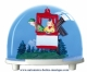 Traditional non-musical snow globe made of plastic without any 18 note musical mechanism - Item # for this non-musical snow globe made in Germany : 3609