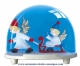 Traditional non-musical snow globe made of plastic without any 18 note musical mechanism - Item # for this non-musical snow globe made in Germany : 3670