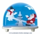 Traditional non-musical snow globe made of plastic without any 18 note musical mechanism - Item # for this non-musical snow globe made in Germany : 3671