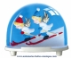 Traditional non-musical snow globe made of plastic without any 18 note musical mechanism - Item # for this non-musical snow globe made in Germany : 3672