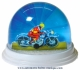 Traditional non-musical snow globe made of plastic without any 18 note musical mechanism - Item # for this non-musical snow globe made in Germany : 3902130