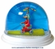 Traditional non-musical snow globe made of plastic without any 18 note musical mechanism - Item # for this non-musical snow globe made in Germany : 3902131