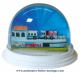 Traditional non-musical snow globe made of plastic without any 18 note musical mechanism - Item # for this non-musical snow globe made in Germany : 3902134