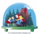 Traditional non-musical snow globe made of plastic without any 18 note musical mechanism - Item # for this non-musical snow globe made in Germany : 3701