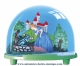 Traditional non-musical snow globe made of plastic without any 18 note musical mechanism - Item # for this non-musical snow globe made in Germany : 3702