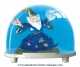 Traditional non-musical snow globe made of plastic without any 18 note musical mechanism - Item # for this non-musical snow globe made in Germany : 3226