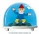 Traditional non-musical snow globe made of plastic without any 18 note musical mechanism - Item # for this non-musical snow globe made in Germany : 3229