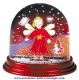 Traditional non-musical snow globe made of plastic without any 18 note musical mechanism - Item # for this non-musical snow globe made in Germany : 390306