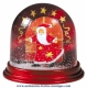 Traditional non-musical snow globe made of plastic without any 18 note musical mechanism - Item # for this non-musical snow globe made in Germany : 390309