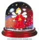 Traditional non-musical snow globe made of plastic without any 18 note musical mechanism - Item # for this non-musical snow globe made in Germany : 390307