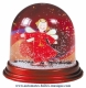Traditional non-musical snow globe made of plastic without any 18 note musical mechanism - Item # for this non-musical snow globe made in Germany : 390308