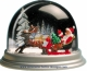 Traditional non-musical snow globe made of plastic without any 18 note musical mechanism - Item # for this non-musical snow globe made in Germany : 3902018