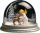 Traditional non-musical snow globe made of plastic without any 18 note musical mechanism - Item # for this non-musical snow globe made in Germany : 3902019