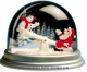 Traditional non-musical snow globe made of plastic without any 18 note musical mechanism - Item # for this non-musical snow globe made in Germany : 3902020