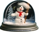 Traditional non-musical snow globe made of plastic without any 18 note musical mechanism - Item # for this non-musical snow globe made in Germany : 3902021