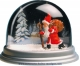 Traditional non-musical snow globe made of plastic without any 18 note musical mechanism - Item # for this non-musical snow globe made in Germany : 3902022