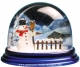 Traditional non-musical snow globe made of plastic without any 18 note musical mechanism - Item # for this non-musical snow globe made in Germany : 3902014