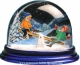 Traditional non-musical snow globe made of plastic without any 18 note musical mechanism - Item # for this non-musical snow globe made in Germany : 3902015
