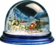 Traditional non-musical snow globe made of plastic without any 18 note musical mechanism - Item # for this non-musical snow globe made in Germany : 3902016