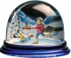 Traditional non-musical snow globe made of plastic without any 18 note musical mechanism - Item # for this non-musical snow globe made in Germany : 3902017