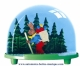 Traditional non-musical snow globe made of plastic without any 18 note musical mechanism - Item # for this non-musical snow globe made in Germany: 2983