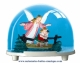 Traditional non-musical snow globe made of plastic without any 18 note musical mechanism - Item # for this non-musical snow globe made in Germany: 2799