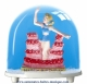 Traditional non-musical snow globe made of plastic without any 18 note musical mechanism - Item # for this non-musical snow globe made in Germany: 2972
