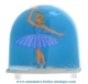 Traditional non-musical snow globe made of plastic without any 18 note musical mechanism - Item # for this non-musical snow globe made in Germany : 3604