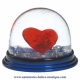 Traditional non-musical snow globe made of plastic without any 18 note musical mechanism - Item # for this non-musical snow globe made in Germany : 3906