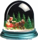 Traditional non-musical snow globe made of plastic without any 18 note musical mechanism - Item # for this non-musical snow globe made in Germany : 342101