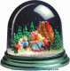 Traditional non-musical snow globe made of plastic without any 18 note musical mechanism - Item # for this non-musical snow globe made in Germany : 342102