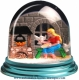Traditional non-musical snow globe made of plastic without any 18 note musical mechanism - Item # for this non-musical snow globe made in Germany : 342104