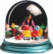 Traditional non-musical snow globe made of plastic without any 18 note musical mechanism - Item # for this non-musical snow globe made in Germany : 342105