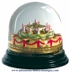 Traditional non-musical snow globe made of plastic without any 18 note musical mechanism - Item # for this non-musical snow globe made in Germany : 342067