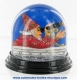 Traditional non-musical snow globe made of plastic without any 18 note musical mechanism - Item # for this non-musical snow globe made in Germany : 342052