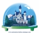 Traditional non-musical snow globe made of plastic without any 18 note musical mechanism - Item # for this non-musical snow globe made in Germany: 2647