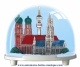 Traditional non-musical snow globe made of plastic without any 18 note musical mechanism - Item # for this non-musical snow globe made in Germany : 3792